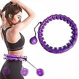 reakoo Hula Hoop Fitness Aro de Fitness Inteligente para Adultos, con tamaño Ajustable, Masaje de 360°, con 24 segmentos para pérdida de Peso, no se Cae