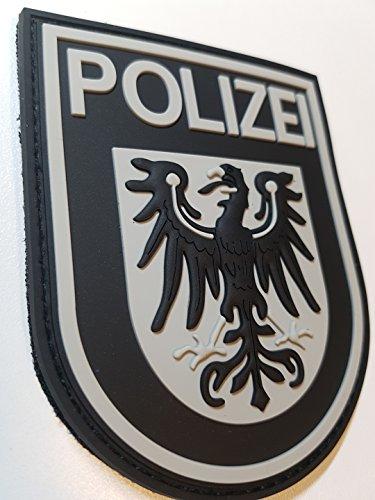ATG Ärmelabzeichen Polizei Brandenburg 3 D Rubber Patch (BlackOps)