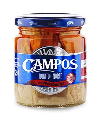 Campos, frasco de Bonito del Norte en escabeche tradicional 215 g