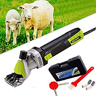 Laecabv 6 Speed Electric Goat Sheep Shears Clipper Thick Coat Animal Grooming Clippers Cutter Tools for Sheep Alpaca Goat Cattle Farm Animals