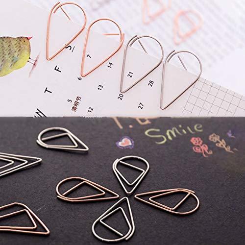 10 pz/pacco Gocce d'acqua Forma Clip di carta Colorato Segnalibro Kawaii Office School Cancelleria Clip per album di marcatura - Viola S