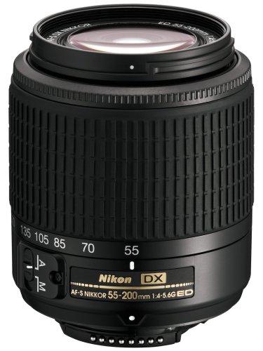 Nikon 55-200 mm f/4.0-5.6 AF-S DX ED - Objetivo para Nikon F (Distancia Focal 82.5-300mm,...