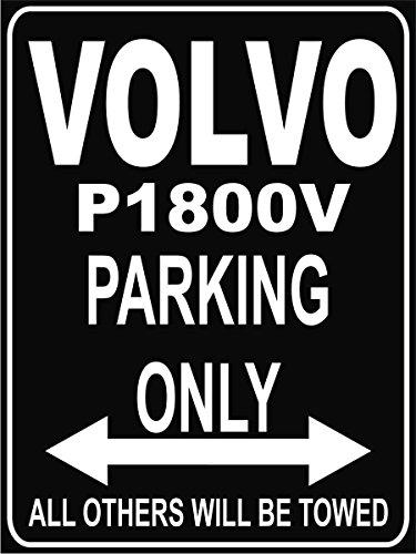 INDIGOS UG Park-volvo-p1800 Parkplatzschild, Schwarz