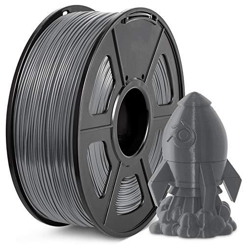 Filamento PLA+ 1.75mm, JAYO PLA Plus Filamento de Impresora 3D, tolerancia de diámetro +/- 0,02 mm, 1kg Spool, PLA+ Gris