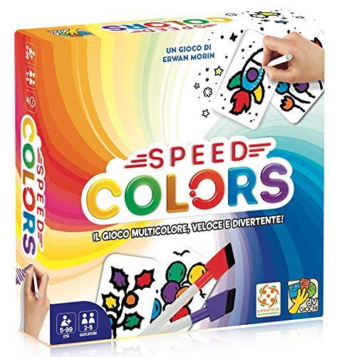 DV Giochi Speed Colors-Il Gioco di Carte da Colorare, DVG9345