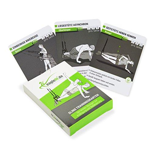 eaglefit Sling-Trainer-Karten für EIN abwechslungsreiches Training, wasserfest, klein, Immer dabei