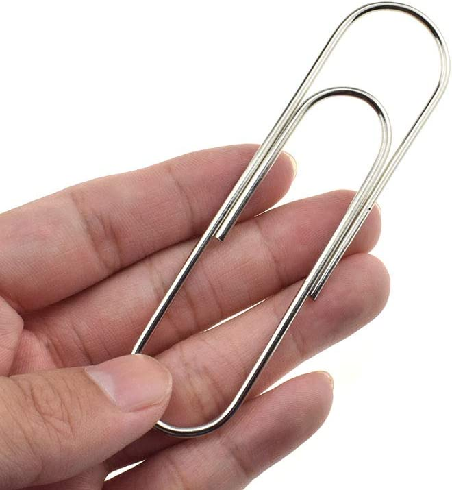 HAHIYO Paper Clips Sturdy 4 inches Philadelphia Mall Hea Length Online limited product 14 Paperclips Pack