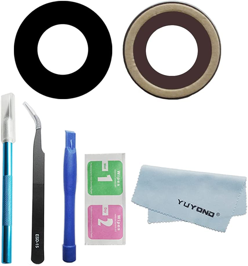YUYOND OEM Original Rear Back Camera Glass Lens Replacemt for iPhone XR with Adhesive Pre-Installed + Tools Kit + Clean Cloth