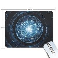 マウスパッド かわいい 光 ハレーション 星柄 ブルー ブラック 羅針盤 高級 ノート パソコン マウス パッド 柔らかい ゲーミング よく 滑る 便利 静音 携帯 手首 楽