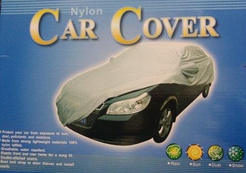 CAR COVER Lona Nylon Cubre Coche, Funda Protectora Talla a Elegir: S, M, L, XL, 2XL, 3XL, 4XL (M 432x165x120cm)