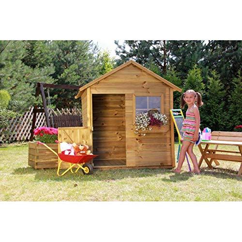 Spielhaus Kinderspielhaus Holz Gartenhaus Spielhütte aus Holz für Kinder - (3668)