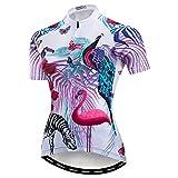 weimostar Damen-Radtrikot, schnelltrocknend, atmungsaktiv, für Mountainbike, Sport, Rennsport, 33, Large