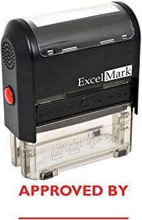 Approved by - ExcelMark Self-Inking Rubber Stamp - A1539 Red Ink