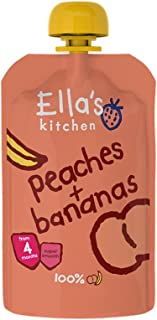 Ella's Kitchen Organic Puree, Peaches And Bananas, 120g (Pack of 1)