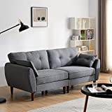 Cherry Tree Furniture Brooks Fabric Sofa (Grey, 3-Seater)