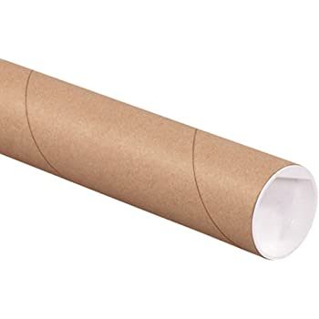 Pack of 20 Yazoo Mills 3 x .100 x 26 Kraft Mailing Tubes with Plugs