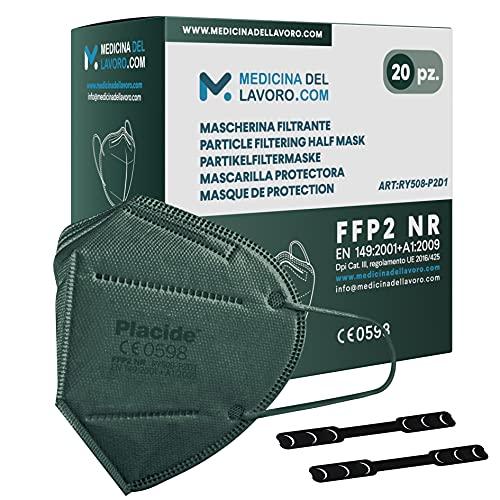 20 FFP2 Maske Bunt Grün CE Zertifiziert, Medizinische Mask mit 6 Lagige Masken ohne Ventil, Staub- und Partikelschutzmaske, Atemschutzmaske mit Hoher BFE-Filtereffizienz≥95-20 Stück
