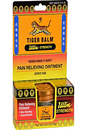 Tiger Balm 039278315103 Ultra Strength Ointment, 0.63 Oz by No