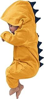 طفل الفتيان الفتيات 3d الديناصور عارضة الرياضية السروال القصير الوليد القطن مقنع البلوز الملابس (Color : YE, Size : 70)