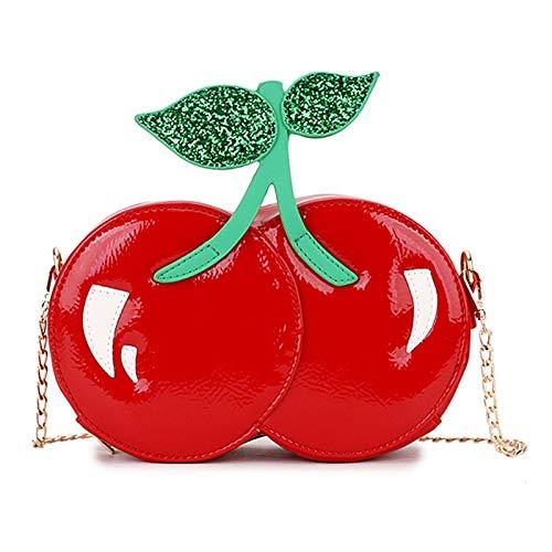 RETYLY Mode Niedlichen Roten Kirsche Umh?Nge Tasche Pu Leder L?Ssig Kette Umh?Nge Tasche M?Dchen Handtasche