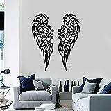 Alas calcomanía de pared pluma nudo tejido decoración del hogar interior sala...