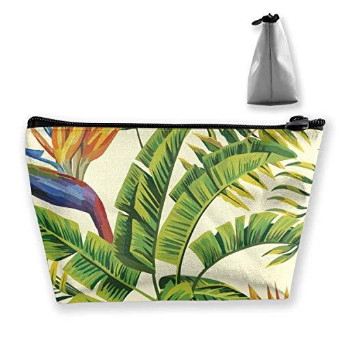 Cadeau idéal – Sac de rangement trapézoïdal multifonction avec motif floral et ananas hawaïen