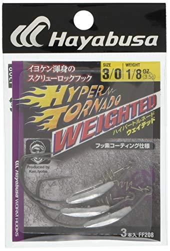 ハヤブサ(Hayabusa) シングルフック FINA ハイパートルネード ウェイテッド 3/0 3.5g 3本 FF208
