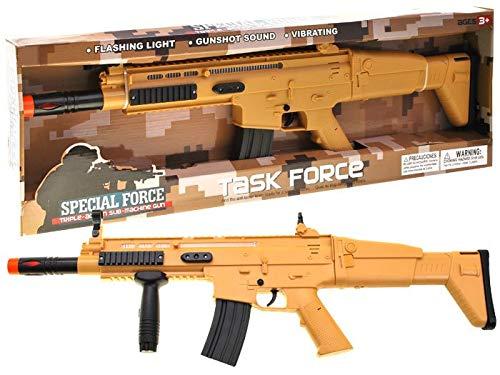 BSD Pistola Giocattolo - Fucile Realistico per Bambini - Effetti Sonori e Luminosi