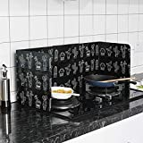 SOONHUA 3-Sided Splatter Shield Guard for Cooking, Kitchen Oil Baffle Plate Stove Heat Insulation Sheet Aluminum Foil Oil Splash Proof Cooking Tool