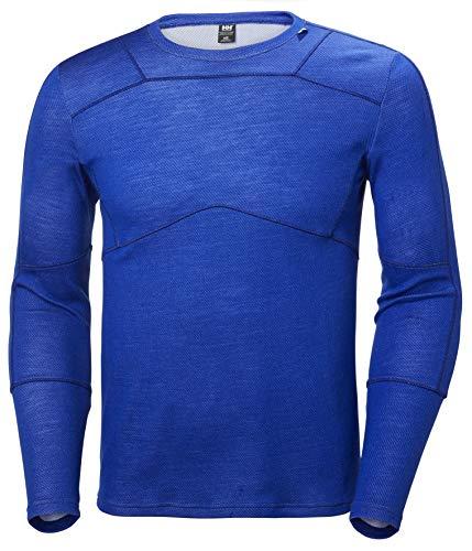 Helly Hansen HH LIFA Crew Camiseta Técnica Lana Merino, Hombre, Azul (Olimpo), XL