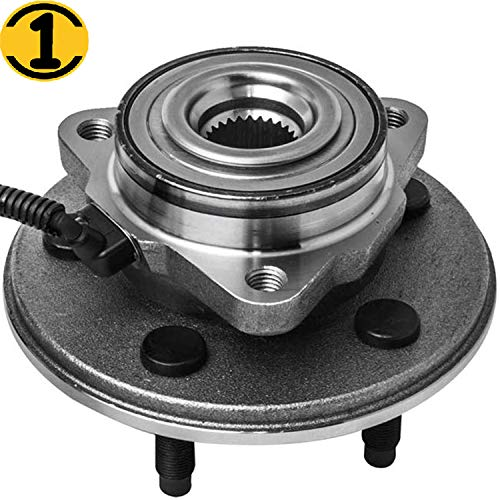 Front Wheel Hub Bearing Assembly Fits for 2002 2003 2004 2005 Ford Explorer (Excludes 2 Door Sport)/Mercury Mountaineer, 2003-2005 Lincoln Aviator Wheel Bearing Hub w/ABS,5 Lugs [4WD, RWD]-515050