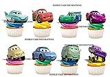 Kuchen-, Backwarendekoration aus Esspapier mit Disney-Cars-Motiv 24 Stück