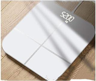 Báscula de baño Digital Báscula electrónica, báscula de precisión portátil con Pantalla LCD Grande @ Rosa (Color : White)