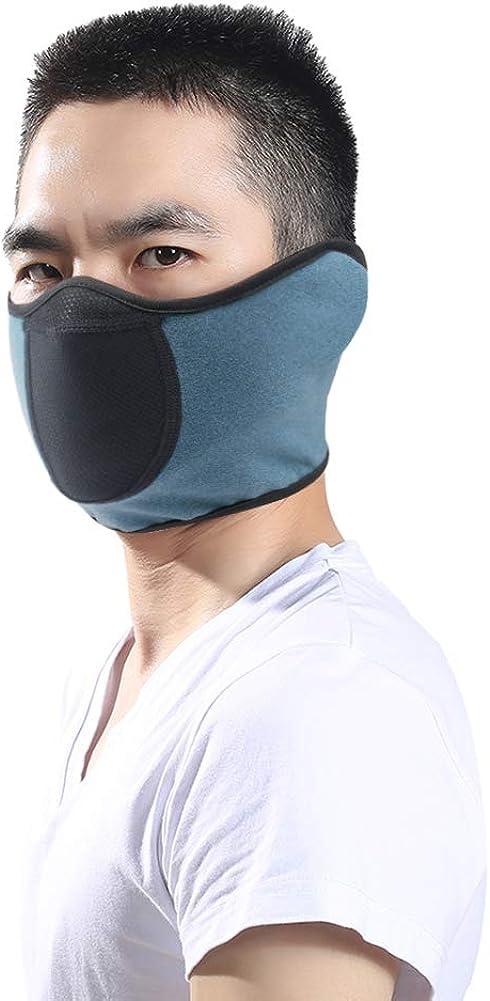 Half Ski Mask Windproof Face Cover Winter Warm Ear Warmer Cold Weather Men Women