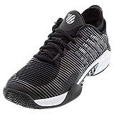 K-Swiss Men's Hypercourt Supreme Tennis Shoes, Black/White (US Size 7)