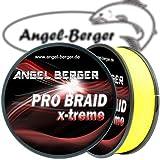 Angel-Berger Pro Braid x-Treme geflochtene Schnur Angelschnur Angelschnur (150m gelb, 0,30mm)