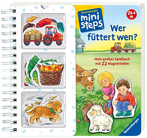 Wer füttert wen?: Mein großes Spielbuch mit 22 Magnetteilen. Ab 24 Monaten (ministeps Bücher)