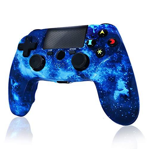 Mando PS4 Inalámbrico Dual Shock Gaming con Controlador Táctil de Alta Precisión para Sony Playstation 4/PS4 Pro/Slim/PC - Blue