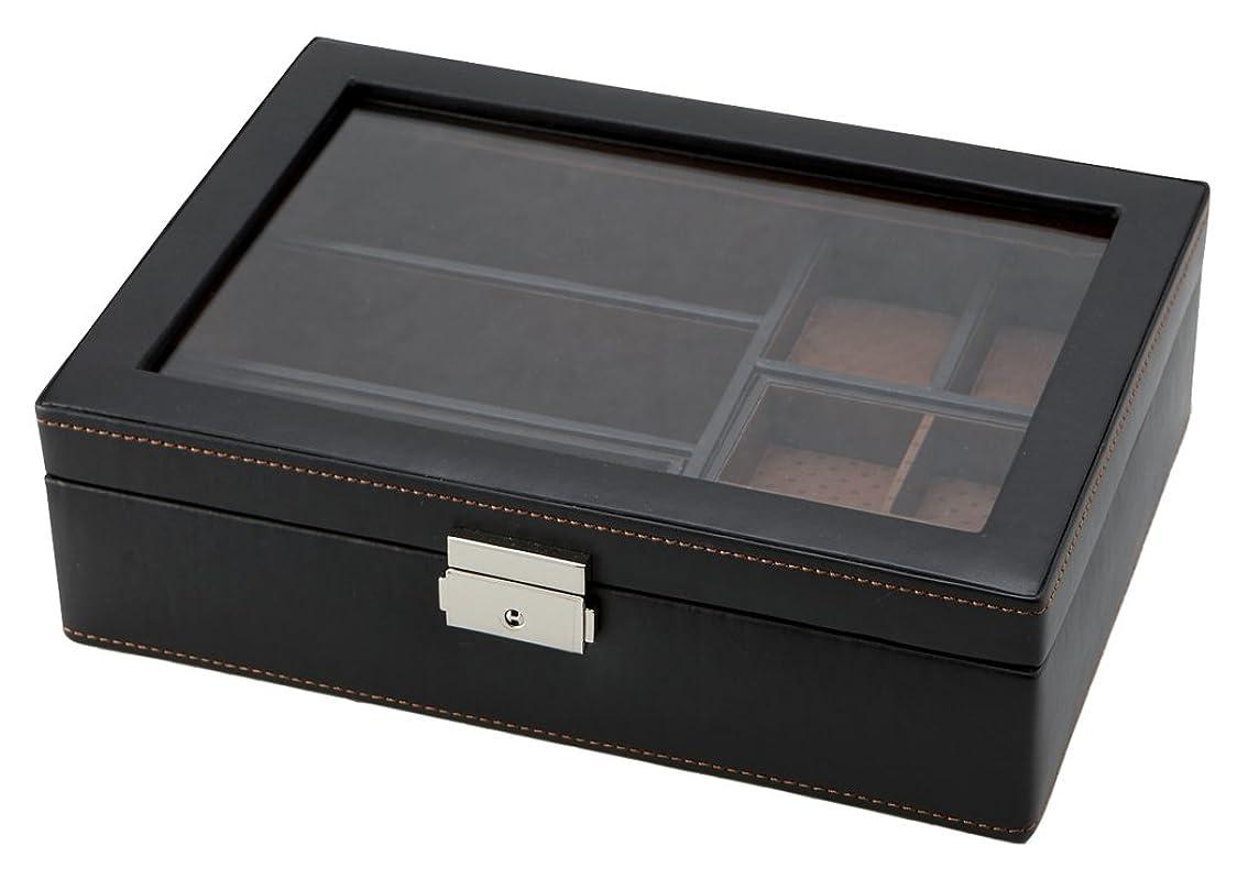 ワットずんぐりしたブリッジ茶谷産業 小物収納 LA VITA IDEALE メンズボックスL 240-576BK