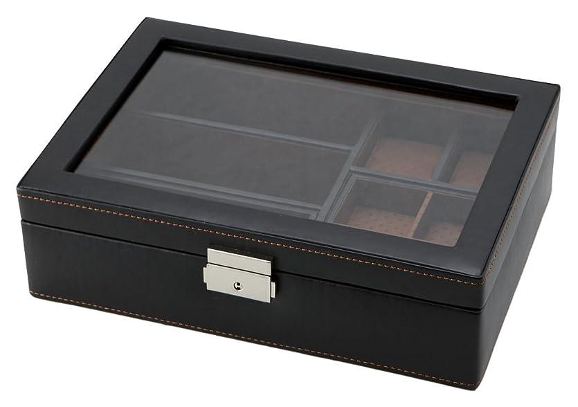 社会科ロデオ小川茶谷産業 小物収納 LA VITA IDEALE メンズボックスL 240-576BK
