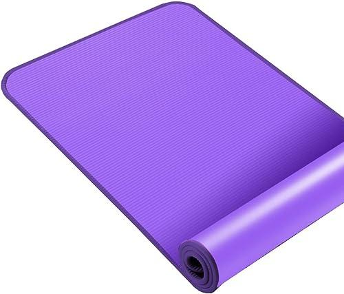 Asdfg Tapis de Yoga, Tapis de Fitness Tapis d'exercice Antidérapant élargi épaissir Famille Danse Camping Pilates Débutants-B 15mm