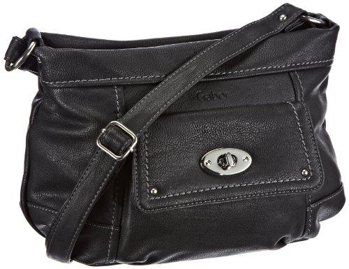 Gabor Caro Handtasche, schwarz 6648 60, Damen Umhängetaschen, Schwarz (schwarz 60), 30x20x11 cm (B x H x T)