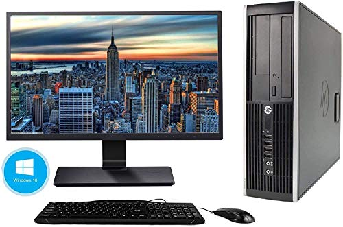 Hp Elite 8300 SFF - Ordenador de sobremesa + Pantalla 22' (Intel Core i5-3470, 3.2 GHz, 8GB de RAM, Disco SSD de 240GB + 500GB HDD, Lector, Windows 10 Pro ES 64) (Reacondicionado)