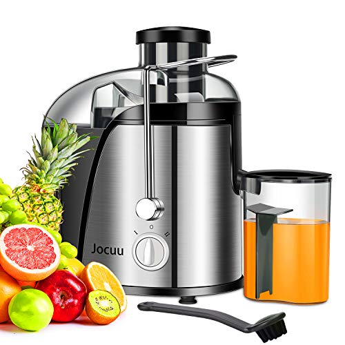 Jocuu Juicer Machine, Centrifugal Juicer Juice Extractor Wide Feed Chute Easy to clean, 2 Speed 600W Power, Food Grade 304 Stainless Steel BPA-Free Dishwasher Safe