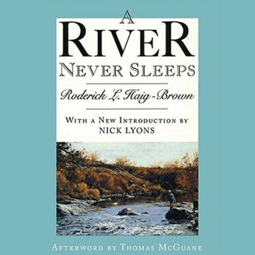 A River Never Sleeps audiobook cover art