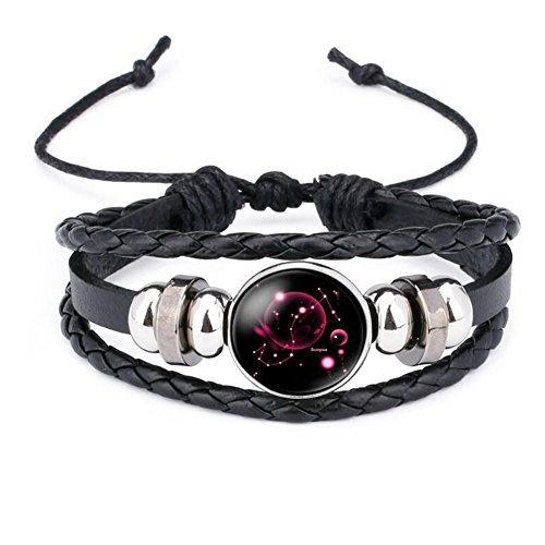 12 Sternzeichen Armband Glas Cabochon Horoskop Anhänger Silber Armschmuck Herren Armbänder Verstellbare Kette (Skorpion)