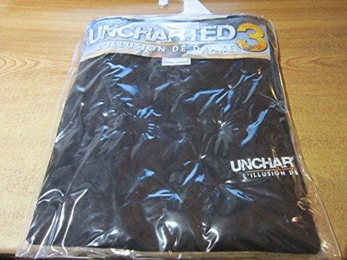 Stedman Zelda T Shirt Uncharted 3 L'illusion de Drake - Noir - Taille L