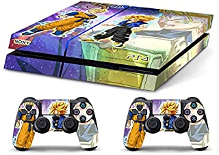Skin Ps4 Old - DRAGONBALL GOHAN TRUNKS - limited edition DECAL COVER ADESIVA Playstation 4 Slim SONY BUNDLE