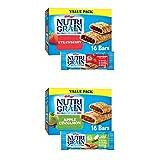 Nutri-Grain Snack Bars Snack Box, Soft Baked Breakfast Bars, Strawberry (48 Bars) and Apple Cinnamon (48 Bars)