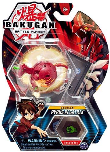 "Bakugan, Pyrus Pegatrix, 2"" Tall Collectible Transforming Creature, for Ages 6 & Up"
